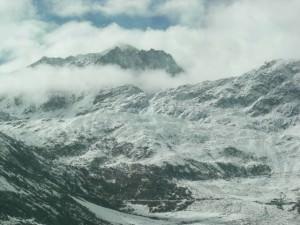 山の雪化粧