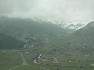 山の上から眺める景色
