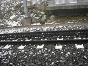 スイスの登山鉄道の線路