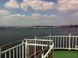 船で鹿児島市内へ