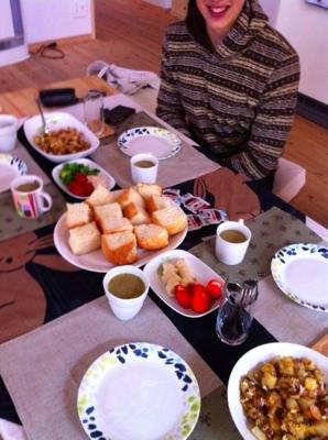 ドイツ人ゲストとの食事