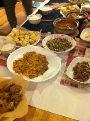 韓国料理と日本料理