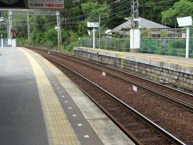 箕谷駅の様子