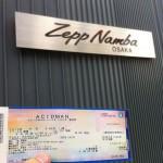 ACIDMAN live tour 新世界 Zepp Nambaに行ってきました