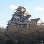 ラッキー!岡山城の展望階から虹が見れました